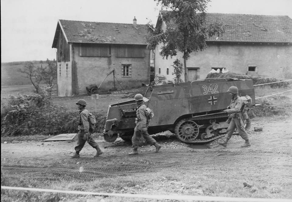 Disabled German Halftrack