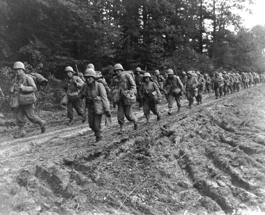 E Comapny, 2nd Battalion 442nd RCT Near Bruyères